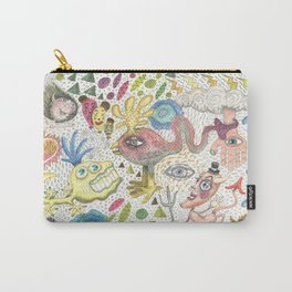 maximalism maximalist pastel pencil surreal fantasy Carry-All Pouch