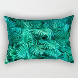 Fern Photography | Emerald | Turquoise |Tropical Leaves | Art Print Rectangular Pillow
