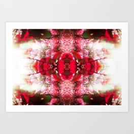 Diamond Orbs of crimson calcite Art Print