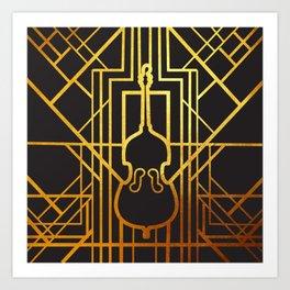 Art Deco Contrabass Art Print