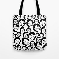 women Tote Bags featuring Women by Emmanuelle Ly