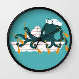 Sailor Octopus Wall Clock