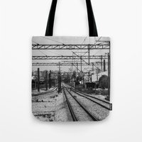 train Tote Bags featuring Train by Maressa Andrioli