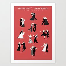 Fred & Ginger Filmography Art Print