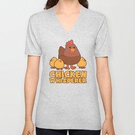Chicken Whisperer Funny Farming Life product Gift Unisex V-Neck