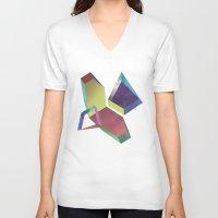 saturn V-neck T-shirts featuring saturn by sofia de eça