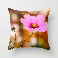 cosmos Throw Pillows featuring Cosmos by LudaNayvelt