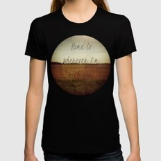 Home is Wherever I'm With You Black LARGE Womens Fitted Tee