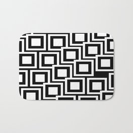 Black and White Squares Pattern 02 Bath Mat