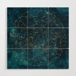 Under Constellations Wood Wall Art