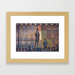 Georges Seurat Parade de Cirque Framed Art Print