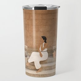 On the Steps Travel Mug