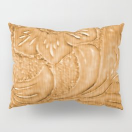 Golden Tan Tooled Leather Pillow Sham