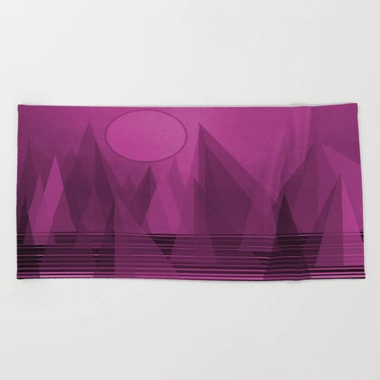 Purple Landscape Beach Towel
