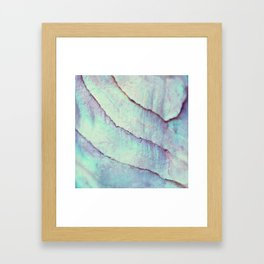 IRIDISCENT SEASHELL MINT by Monika Strigel Framed Art Print