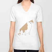 lucy V-neck T-shirts featuring Lucy by RGromek