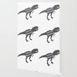 Mama Saurus T-rex Dinosaur Wallpaper