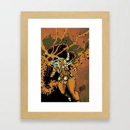BIG SISTA BROWN Framed Art Print