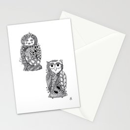 Babushka n Owl Stationery Cards