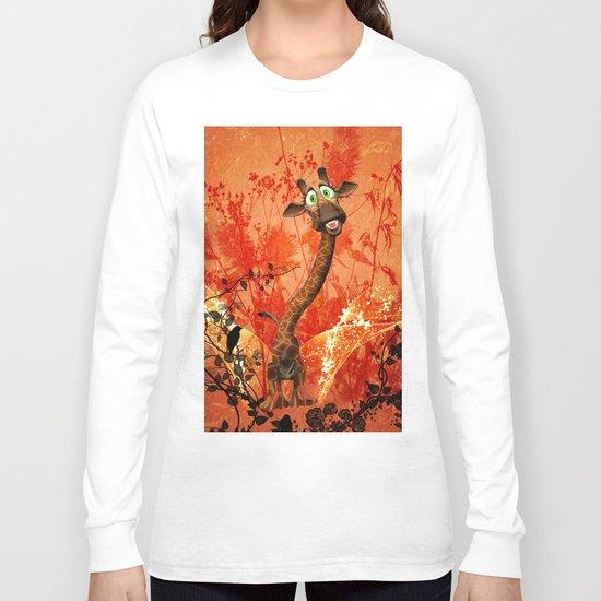 Funny catgiraffe  Long Sleeve T-shirt