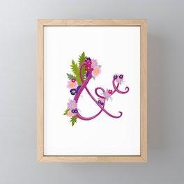 Floral Ampersand Framed Mini Art Print
