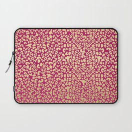 Glam Pink and Glitzy Gold Leopard Pattern Print Laptop Sleeve