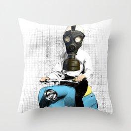 Vespa Man Throw Pillow