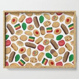 Italian Cookie Pattern Serving Tray