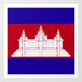 Cambodia flag emblem Art Print