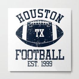 Houston Football Fan Gift Present Idea Metal Print
