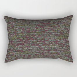 Developer's Terminal Pattern Rectangular Pillow