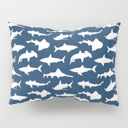 Sharks on Regal Blue Pillow Sham