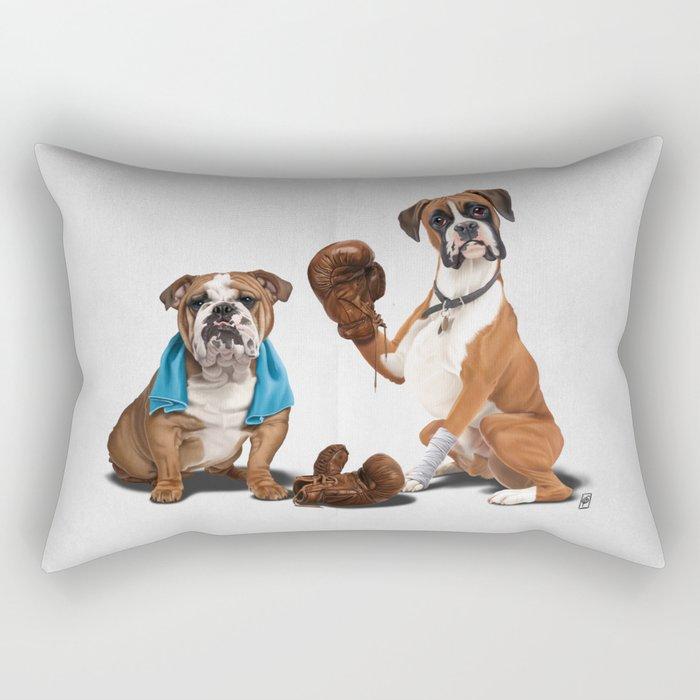 Raging (Wordless) Rectangular Pillow