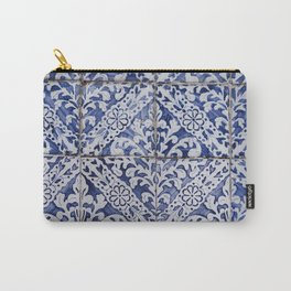 Moroccan blue tiles photography, bohemian, indian style Carry-All Pouch