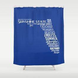 Florida State Love - Blue Shower Curtain