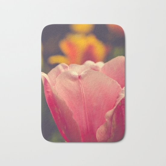 Pretty Pink Flower Bath Mat