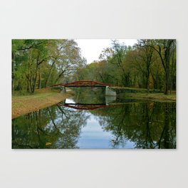 Get Back 2 * Bucks County Bridge * Delaware Canal Canvas Print