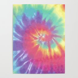 Faded Spiral Tie Dye Poster