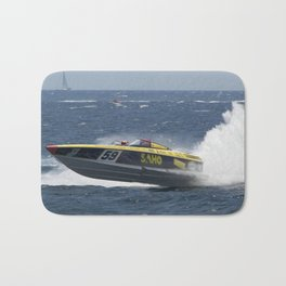 Powerboat Racing Bath Mat