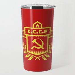 Communist Hammer Sickle Insignia Travel Mug