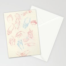 Hands study. Stationery Cards