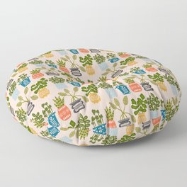 Plants in Pots Print Floor Pillow
