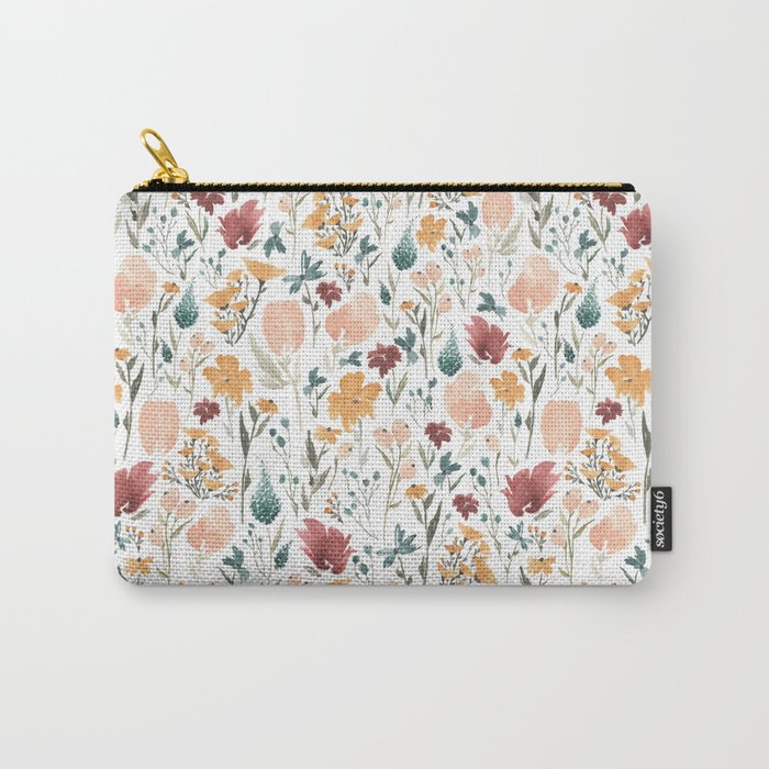 Deep Florals Carry-All Pouch