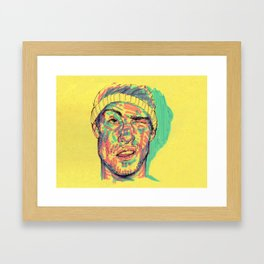 There's some highlighter in my eye Framed Art Print