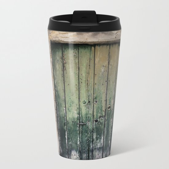 Green Door III Metal Travel Mug