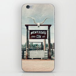 Mentzer's Used Cow Lot, Montana iPhone Skin