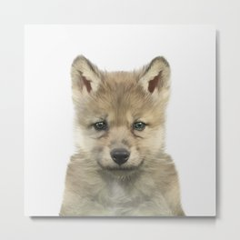 Baby Wolf Metal Print