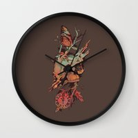 et Wall Clocks featuring Mors et Natura by Norman Duenas