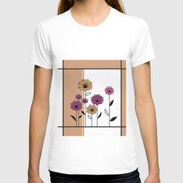 Floral applique , retro T-shirt
