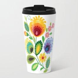 Polish Folk Art Print Travel Mug